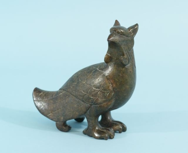 8A: CARVED CHINESE JADE LUCKY BIRD FIGURE