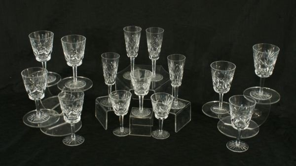 3: LOT OF FOURTEEN WATERFORD CRYSTAL GOBLETS