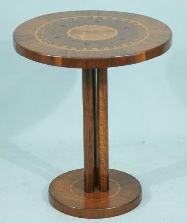 7: INLAID TEAK SIDE TABLE