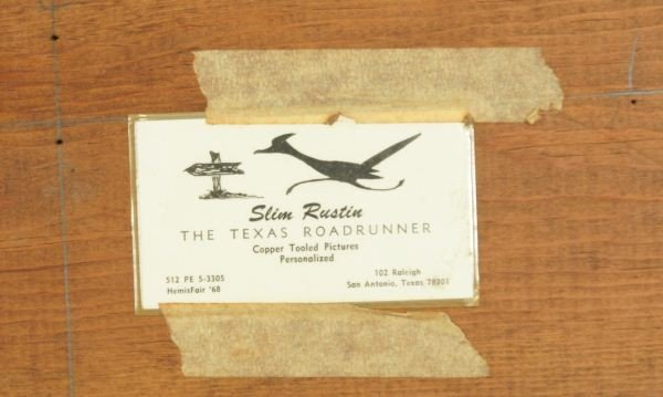 188: SLIM RUSTIN COPPER RELIEFS OF ROADRUNNERS PLACQUES - 4