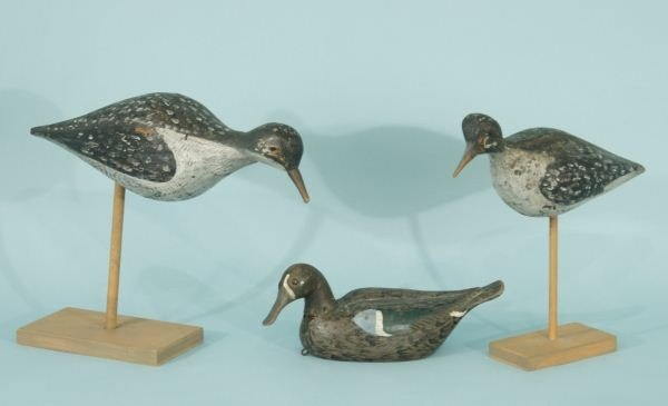 1: LOT OF THREE VINTAGE FOLK ART DECOYS