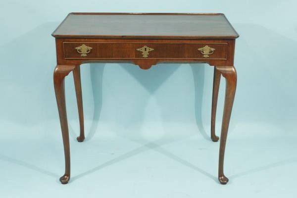 13: LATE 19th C. QUEEN ANNE TEA TABLE, CIRCA 1899
