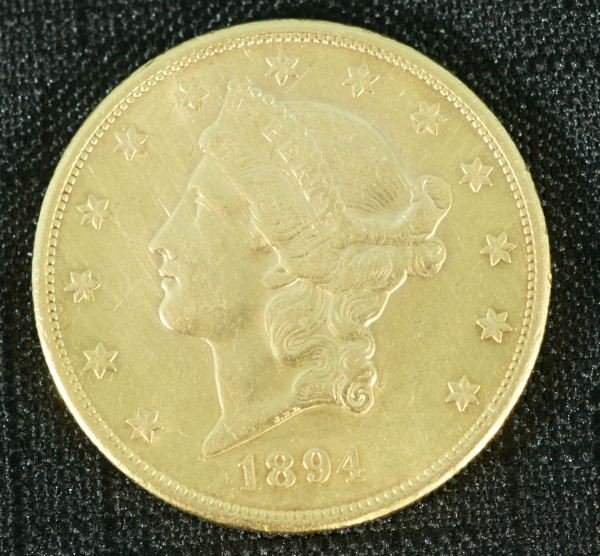17A: 1894 US $20 GOLD COIN 33.5 GRAMS