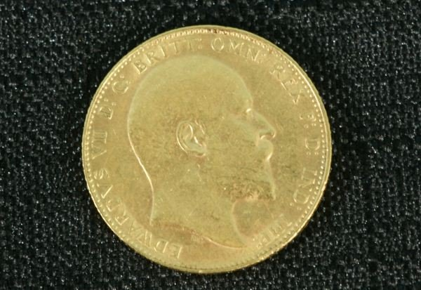 17B: 1910 G. BRITT GOLD COIN 8.0 GRAMS