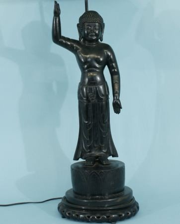 68: ANTIQUE ORIENTAL BUDDHA SCULPTURE, CIRCA 1880