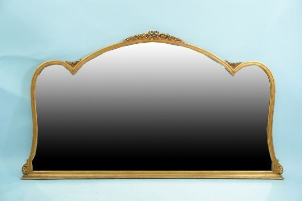 50: GILTWOOD CONTINENTAL OVER-SIDEBOARD MIRROR