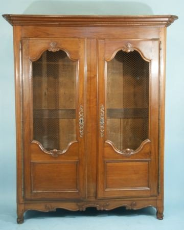 55: 18th CENTURY FRENCH FRUITWOOD ARMOIRE