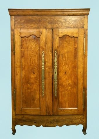 56: ANTIQUE FRENCH CHESTNUT ARMOIRE, CIRCA 1780's