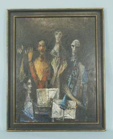 "100A: DAVID ADICKES ""MUSICIANS OF THE BLUE ANGEL"" OIL"