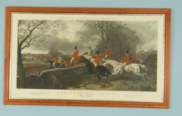 121: FOX HUNTING PLATE FOUR PAINTED BY J.F. HERRING SEN
