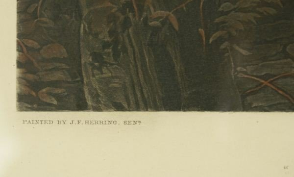 121: FOX HUNTING PLATE FOUR PAINTED BY J.F. HERRING SEN - 2
