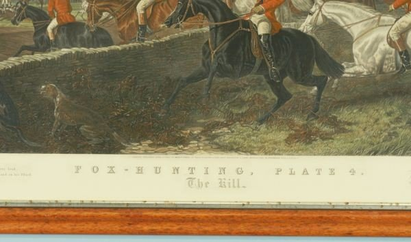 121: FOX HUNTING PLATE FOUR PAINTED BY J.F. HERRING SEN - 7