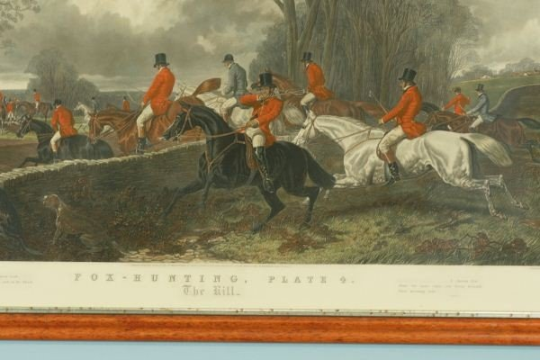 121: FOX HUNTING PLATE FOUR PAINTED BY J.F. HERRING SEN - 8