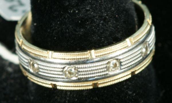 55D: GENTLEMANS DIAMOND 14KT WHITE GOLD BAND RING