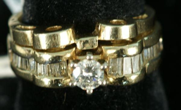 55F: LADIES DIAMOND 14KT YELLOW GOLD WEDDING SET