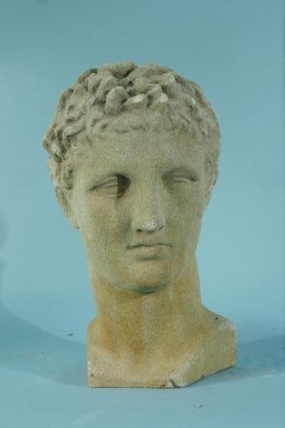 21: CAST CONCRETE HEAD OF ADONIS