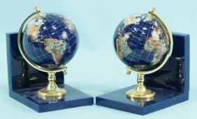 3: PAIR OF GLOBE BOOKENDS
