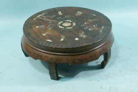 11: ANTIQUE CHINESE INLAID LOW COFFEE TABLE