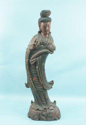 14: 19th CENTURY QUAN YIN BUDDHA, CIRCA 1880's