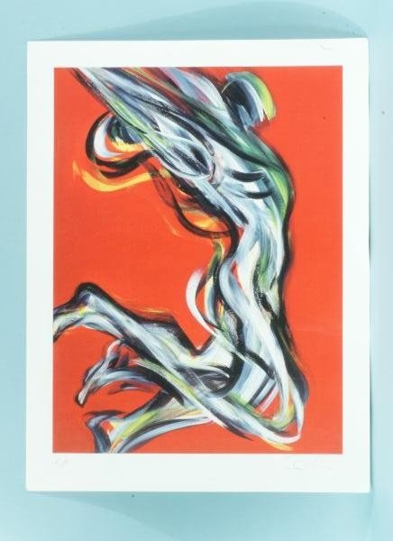 "96: UNFRAMED SIBL DUSKO ""ABSTRACT NUDE"" ARTIST PROOF"