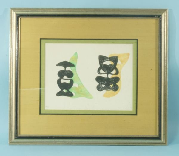 """56: MAX ERNST """"TWO FIGURES"""" PRINT, EDITION #10/24"""