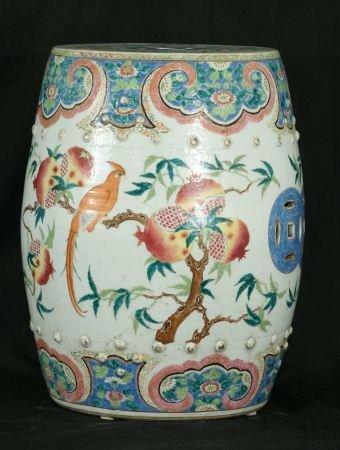 12: 19th CENTURY CHINESE PORCELAIN GARDEN STOOL - 2