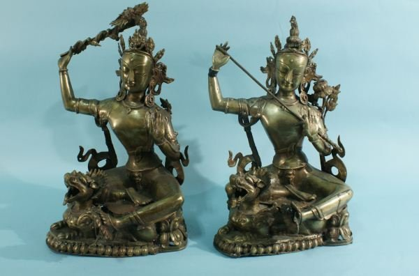 18: LOT OF TWO VINTAGE BRASS BUDDHAS