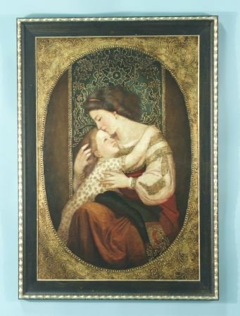 22: OIL PAINTING OF MOTHER AND CHILD