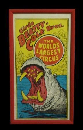 13: CLYDE BEATTY COLE BROS. HIPPO CIRCUS POSTER