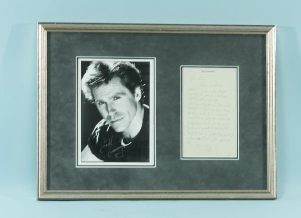 16: JEFF CONAWAY LETTER AND SIGNED PHOTO