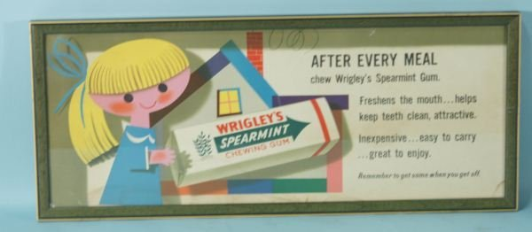 349: WRIGLEY'S SPEARMENT GUM POSTER