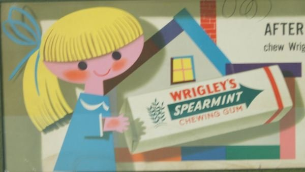 349: WRIGLEY'S SPEARMENT GUM POSTER - 2