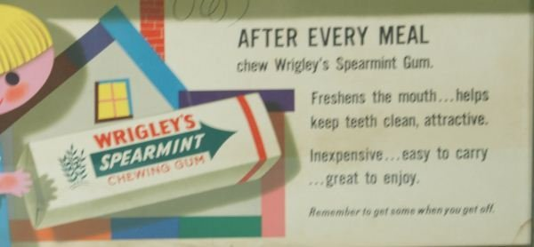 349: WRIGLEY'S SPEARMENT GUM POSTER - 3