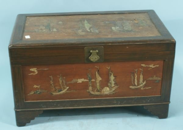 19: CHINESE STORAGE CHEST MADE FROM CAMPHOR WOOD