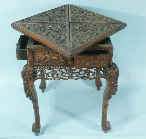 20A: 19th C. CHINESE HANDKERCHIEF GAME TABLE