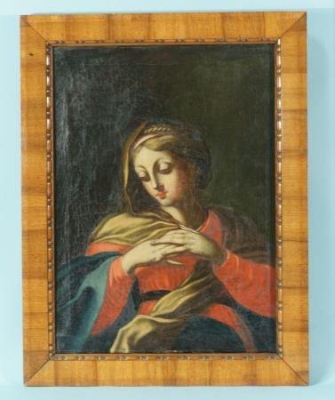 34: 17th CENTURY ITALIAN MADONNA PAINTING