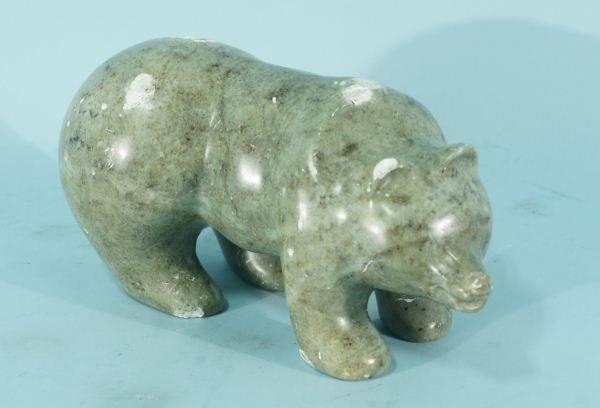 9: 19th CENTURY CARVED MARBLE BEAR