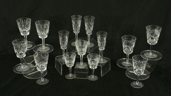 20: LOT OF FOURTEEN WATERFORD CRYSTAL GOBLETS