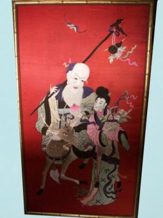 25: FRAMED ORIENTAL SILK ART