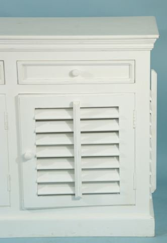 215: WHITE MANGO WOOD SHUTTER SIDEBOARD - 2