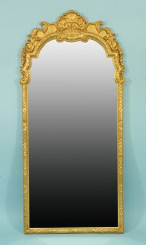 17: GILDED CHIPPENDALE STYLE MIRROR