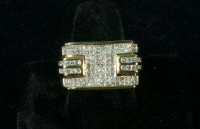 NEW MEN'S 14 KT YELLOW-GOLD DIAMOND RING