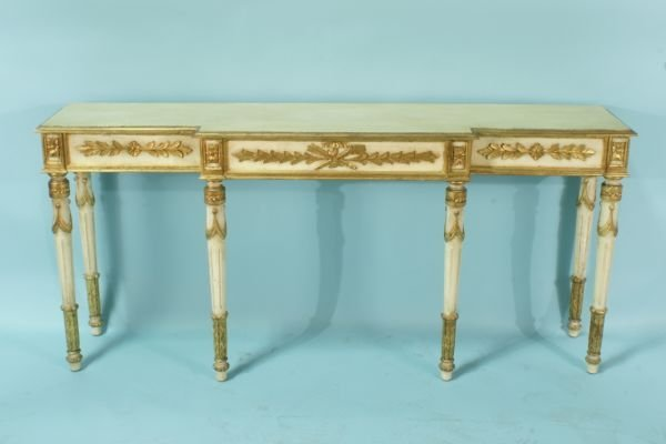 118: VINTAGE ITALIAN GILDED CONSOLE TABLE.