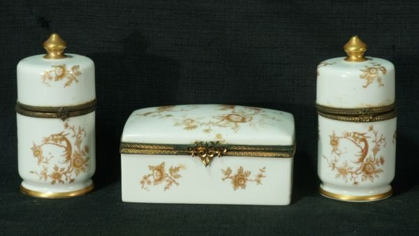 2: THREE LIMOGES PORCELAIN CONTAINERS