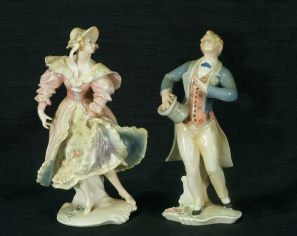 """6: TWO PORCELAIN FIGURES """"ENS"""" GERMANY, CIRCA 1910"""