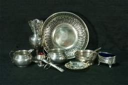 95 MIXED LOT OF TWELVE STERLING SILVER PIECES