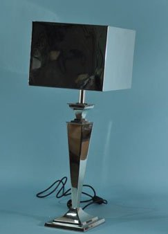 11: NICKEL PLATED CANDLESTICK LAMP
