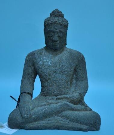 13: CARVED STONE BUDDHA