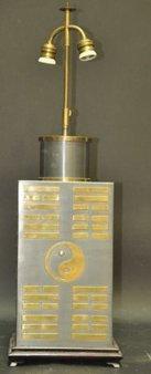 1: PEWTER BRASS ORIENTAL LAMP