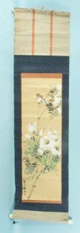 10: CHINESE SCROLL PAINTING OF BIRDS